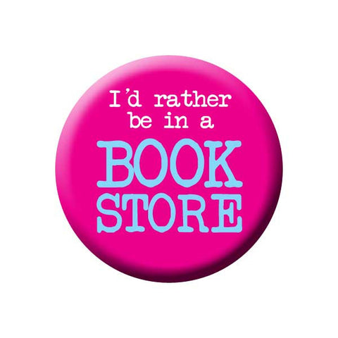 I'd Rather Be In A Book Store, Pink, Reading Book Buttons Collection from People Power Press