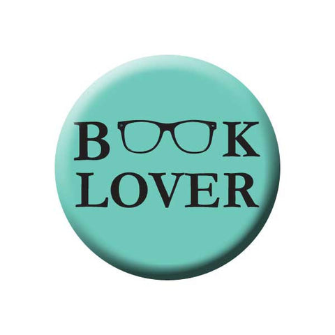 Book lover, Reading Glasses, Teal, Reading Book Buttons Collection from People Power Press