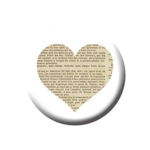 Book Page Heart, Reading Book Buttons Collection from People Power Press