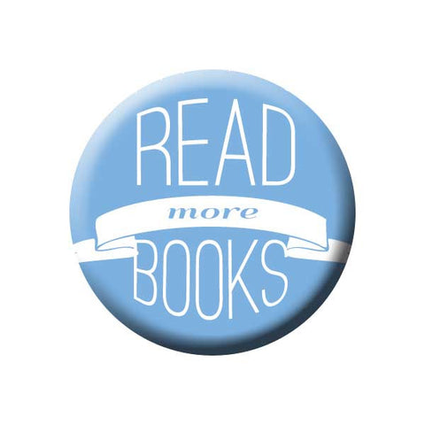 Read More Books, Blue, Reading Book Buttons Collection from People Power Press