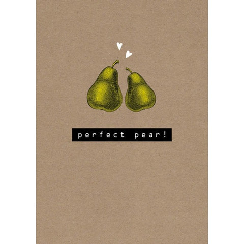 Rock On! Perfect Pear Love Card