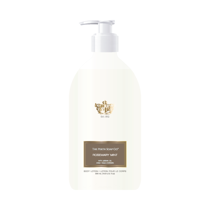 Refreshing Body Lotion, Rosemary Mint, made with Argan Oil, Creamy and pH Balanced