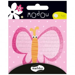 Pink Butterfly Modou Memo Pad
