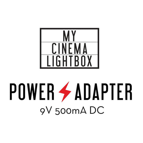 Power adapter for My Cinema Vintage Edition Lightbox
