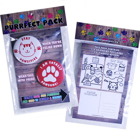 Purrfect Pack - Cat Buttons