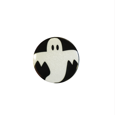 Halloween Spooky Reflect-O Buttons Ghost