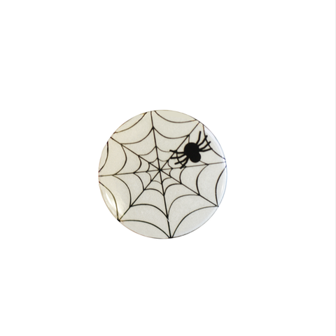 Halloween Spooky Reflect-O Buttons Spider Web