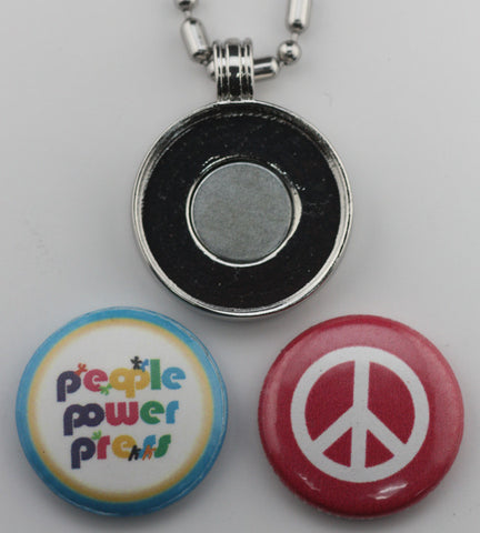 1 inch pendant button jewelery