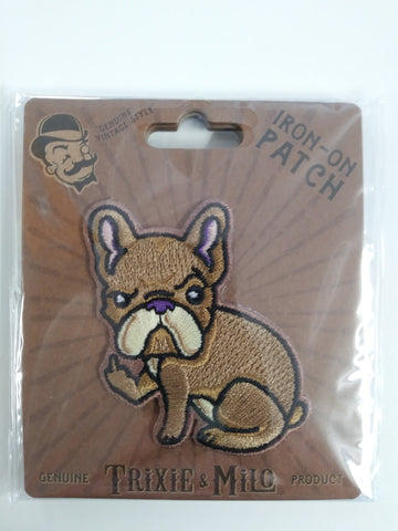 Rude Frenchie Embroidered Patch, Iron-On