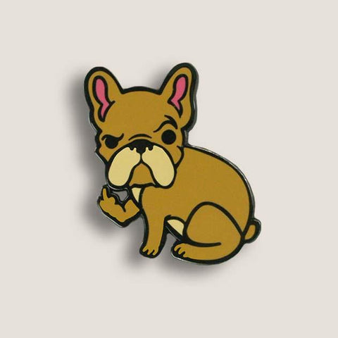 Rude Frenchie Small Enamel Pins