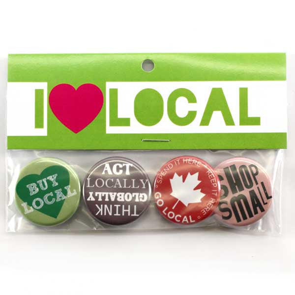I Love Local Button Collection from People Power Press