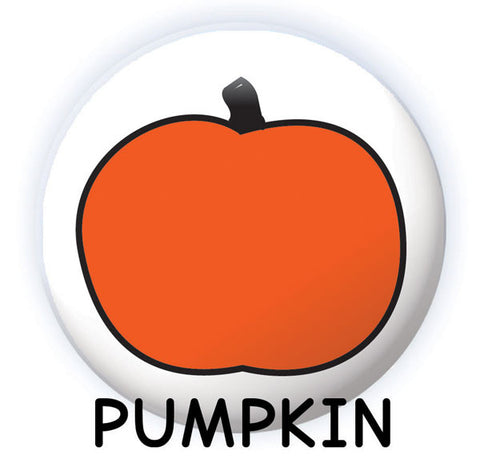 Spooky Face Dry-erase button pumpkin design from People Power Press