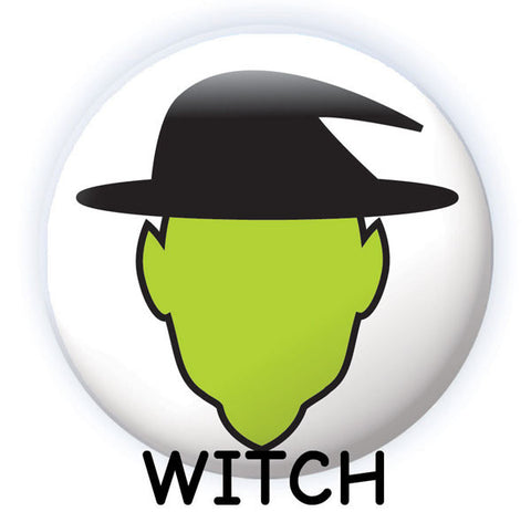 Spooky Face Dry-erase button witch design from People Power Press