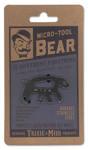 Stainless Multitool Keyring Bear
