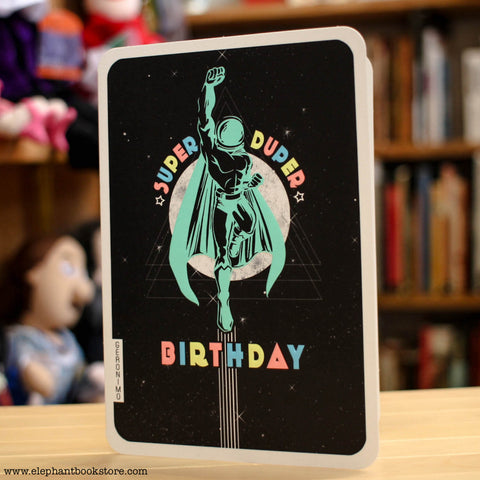 Super Duper Birthday Geronimo Retro Super Futuristic Card