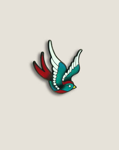 Beautiful Swallow Enamel Pin, Hand Designed