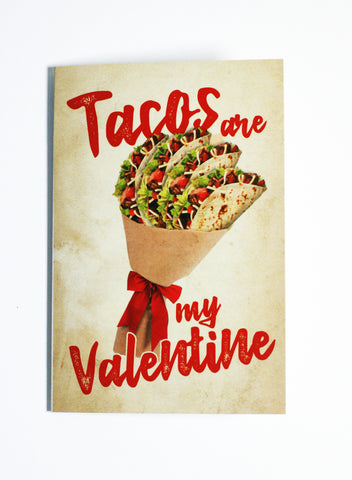 Tacos Are My Valentine - Button Greeting Card