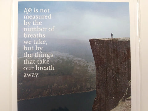 Nature Image With Beauty Quote Greeting Card