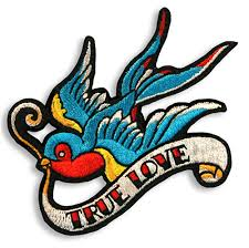 Sweet Tattoo Swallow Embroidered Patch