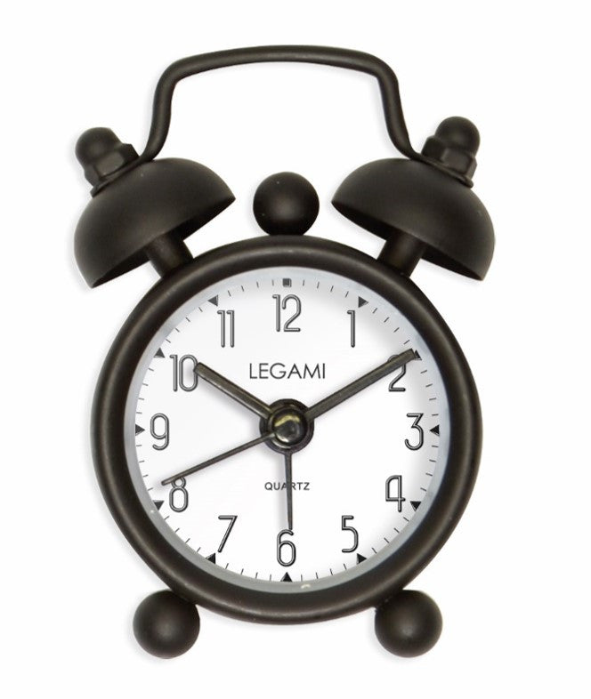 Sweet Mini Black Alarm Clock, battery included