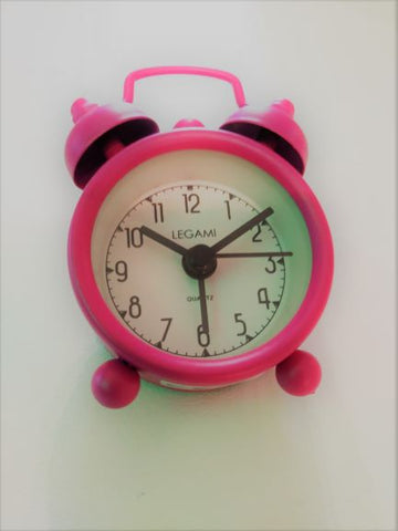 Bright Fuschia, Mini Tick Tock Alarm Clock
