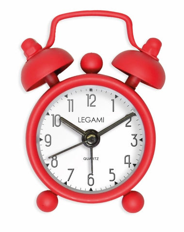 Bright Red, Mini Alarm Clock from Legami