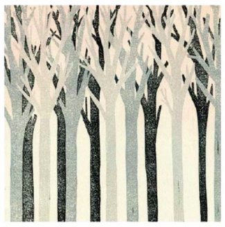 Trees Illustration Blank Greeting Card