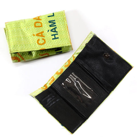 Tri-Fold Short Recycled Rice Bag Wallet