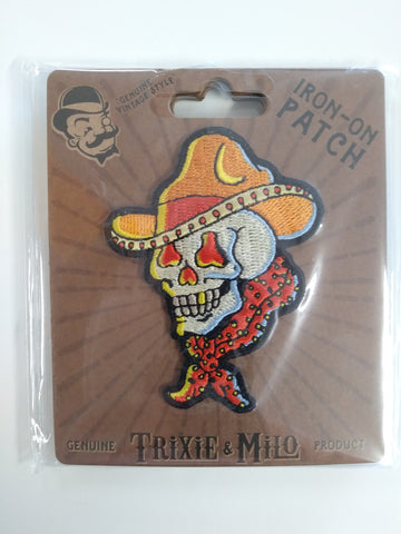 Iron-On Patch, Cowboy Skull Theme