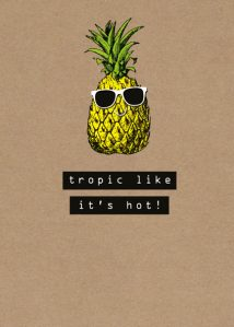 Pineapple Humour Blank Card