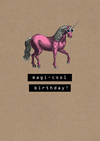 Artful Unicorn Greeting Blank Card