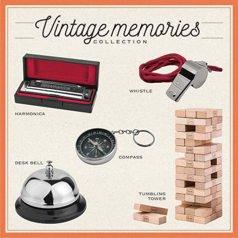 Vintage memories, metal whistle with fabric cord