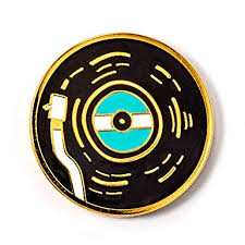 Retro Vinyl Record Enamel Pin