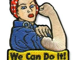 Trixie & Milo, We Can Do It Embroidered Patch