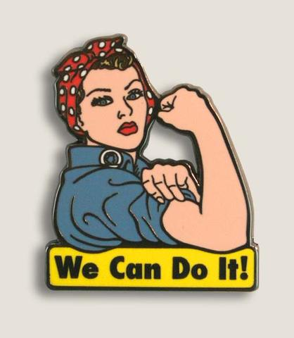 Enamel Pin We Can Do It, Rosie the Riveter