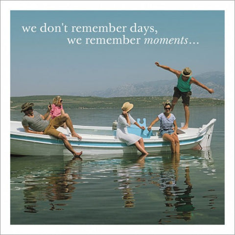 Friends Boating Image Greeting Card