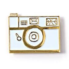 White Camera Funky Enamel Pin