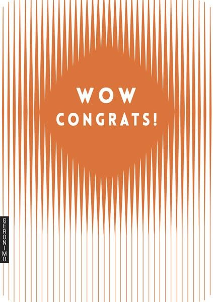 Wow congrats! blank card for special occasions
