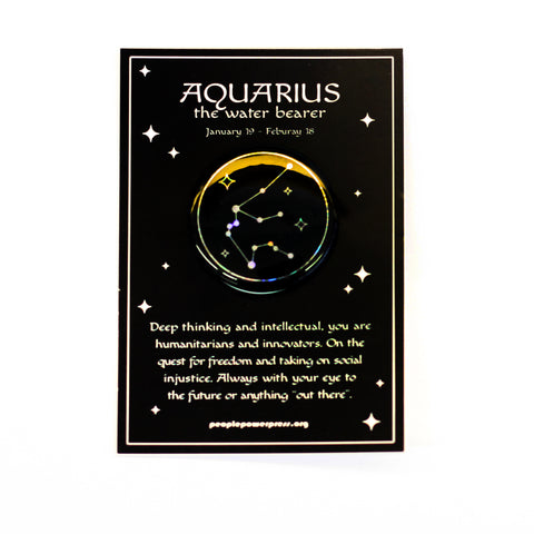 Holographic Zodiac Sign Button Cards