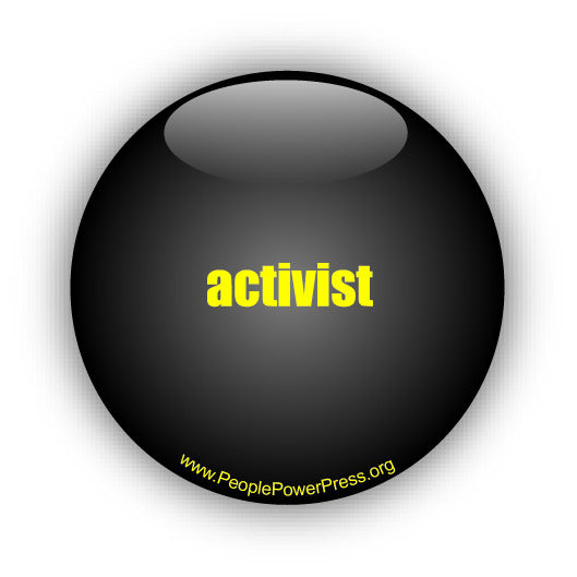 activist graphic design, graphic art & button design