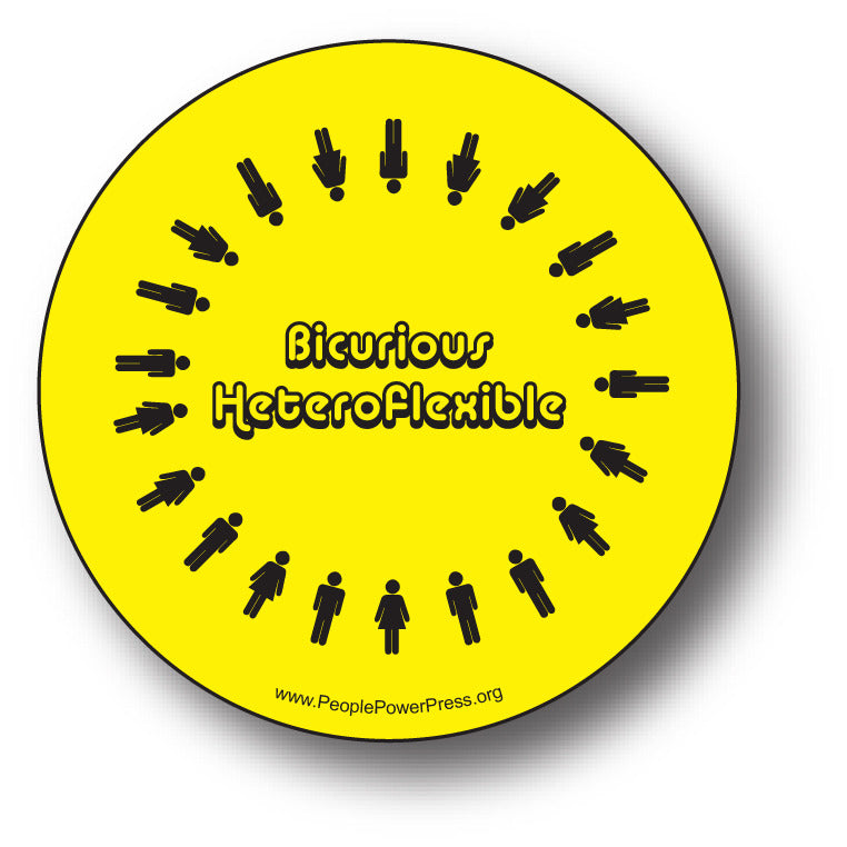 BiCurious Heteroflexible - Queer Button