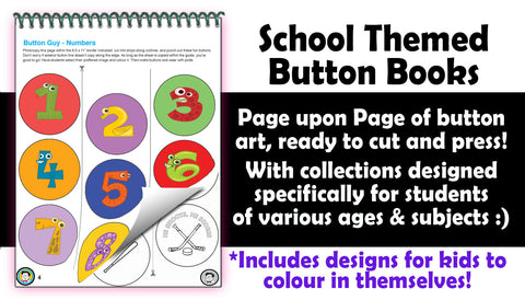 School Themed Button Artwork