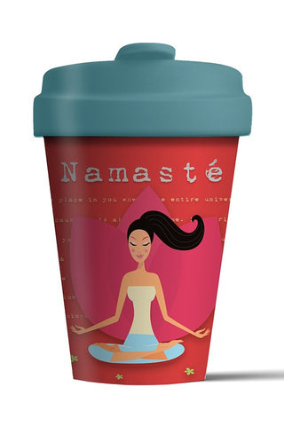 namaste environmentally friendly cup