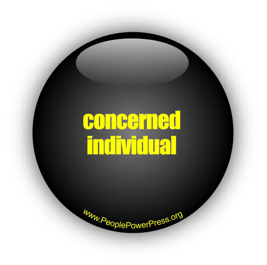 Concerned individual button design