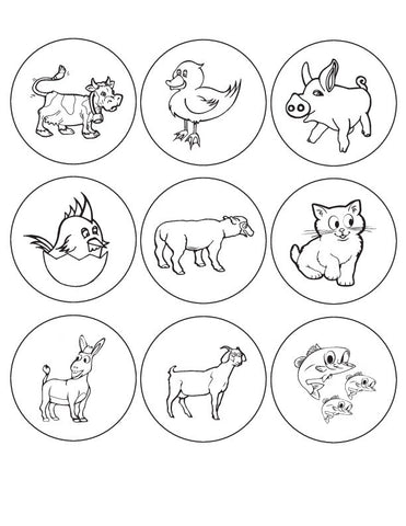 Kids button designs for coloring