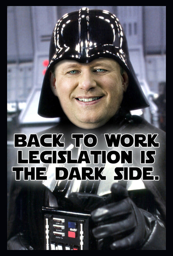 Darth Vader, Stephen Harper and the postal workers
