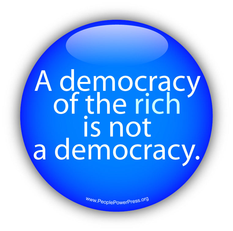 Democracy Activist Button