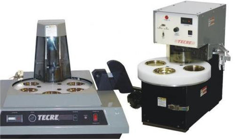 There are 2 sizes of automatic industrial button makers