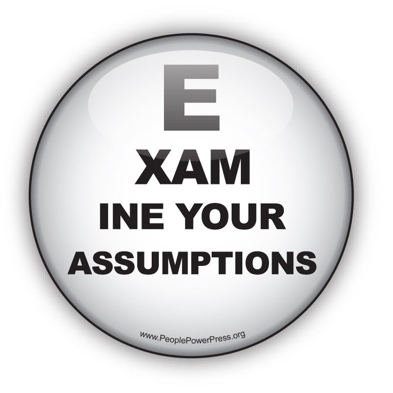 Examine Your Assumptions - Civil Rights Button