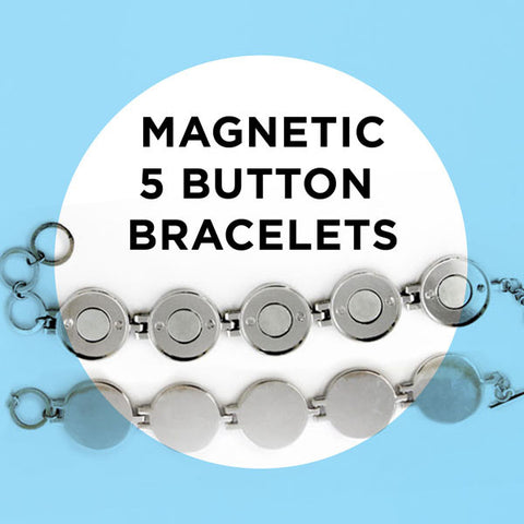 Sale 50% off  DIY Five Bezel Magnetic Button Charm Bracelets by ArtClix